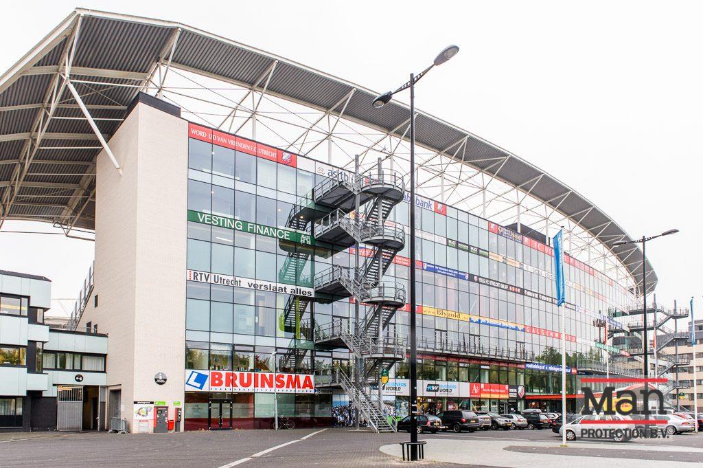FC Utrecht stadion - inbraakvertragende glasfolie