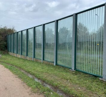 LLumar veiligheidsfolie - Geluidsscherm te Zwolle