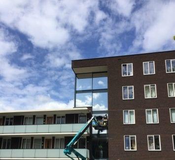 Warmtewerende glasfolie - Appartementencomplex Prinsenhof