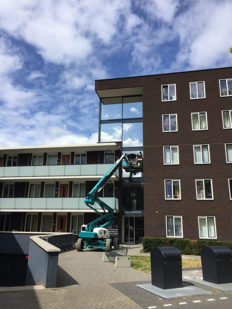 LLumar warmtewerende glasfolie - Appartementencomplex Prinsenhof